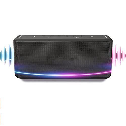 LTH-GD Mini Altavoz para el hogar Altavoz Bluetooth 60W Altavoz portátil Mejorado Columna de bajo con NFC, IPX5 Impermeable, Asistente de Voz. Altavoz inalámbrico (Color : Black Speaker)