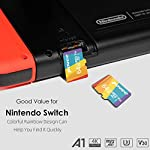 64GB Micro SD Card with Adapter,U3 MicroSDXC Card for Nintendo Switch, V30 Memory Card for Gopro Hero 7 Hero 8 Android… 9 U3 V30 High Speed: Read speed up to 100MB/s, write speed>35MB/s. High transfer speed will save your time of the data transferring.( Actual test speed base on USB3.0 card reader in USB3.0 Port, for devices that don't support UHS-I or USB2.0 port, the transmission speed will be different due to interface limitations.) Great Value for Nintendo Switch! Also great value for action camera like Gopro hero 7 hero 8 black,Yi, DJI Mavic Air Mavic Pro Series Phantom 4 Pro Phantom 4 Pro V2.0 Phantom 4 Advanced and other Drones. Good for 4K UHD video recording and high quality pictures. Good performance for use in Android Smartphones,Drones,Tablets, Action Cameras, Digital Cameras, Dash Cam, DSLRs and more. COMPATIBILE with most of the smart phone like Samsung Galaxy S10 S10+ S10e S9 S8 S7 A9 A6 A6+ Note 9 8 Tab S4 S3 J3; LG K30 G7 Q7 Q Stylus V40 V35; Sony Xperia XZ2 Premium Compact L2 XA2 Ultra Plus XZ1 L1 XZ; Amazon Fire 7 Fire HD 8 Fire HD 10; Moto E5,E6,G6,G7,Z3,Z4,Moto One