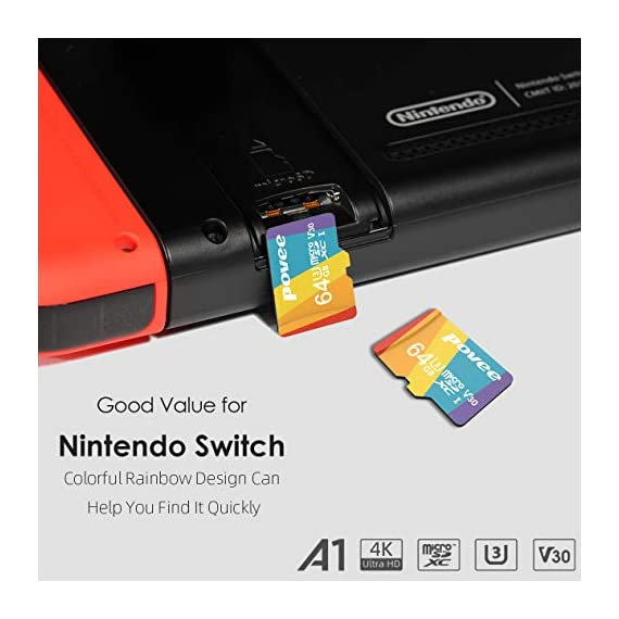 64GB Micro SD Card with Adapter,U3 MicroSDXC Card for Nintendo Switch, V30 Memory Card for Gopro Hero 7 Hero 8 Android… 2 U3 V30 High Speed: Read speed up to 100MB/s, write speed>35MB/s. High transfer speed will save your time of the data transferring.( Actual test speed base on USB3.0 card reader in USB3.0 Port, for devices that don't support UHS-I or USB2.0 port, the transmission speed will be different due to interface limitations.) Great Value for Nintendo Switch! Also great value for action camera like Gopro hero 7 hero 8 black,Yi, DJI Mavic Air Mavic Pro Series Phantom 4 Pro Phantom 4 Pro V2.0 Phantom 4 Advanced and other Drones. Good for 4K UHD video recording and high quality pictures. Good performance for use in Android Smartphones,Drones,Tablets, Action Cameras, Digital Cameras, Dash Cam, DSLRs and more. COMPATIBILE with most of the smart phone like Samsung Galaxy S10 S10+ S10e S9 S8 S7 A9 A6 A6+ Note 9 8 Tab S4 S3 J3; LG K30 G7 Q7 Q Stylus V40 V35; Sony Xperia XZ2 Premium Compact L2 XA2 Ultra Plus XZ1 L1 XZ; Amazon Fire 7 Fire HD 8 Fire HD 10; Moto E5,E6,G6,G7,Z3,Z4,Moto One