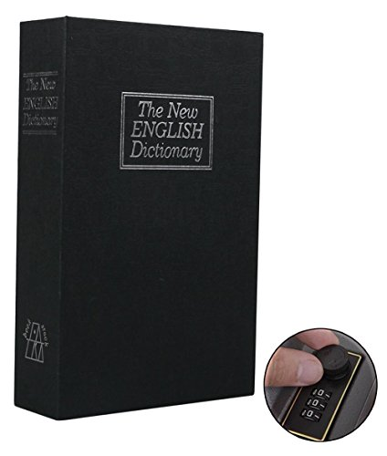 Cassaforte a forma di libro con password lock dizionario guida libro sicuro, cassaforte portatile, ideale per risparmiare denaro gioielli e pistole