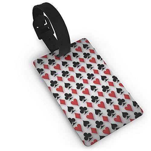 Gepäckanhänger für Poker / Koffer / Visitenkarte / Reisekarte / Personalausweis, weiß (Schwarz) - Lg87pfb-24981782