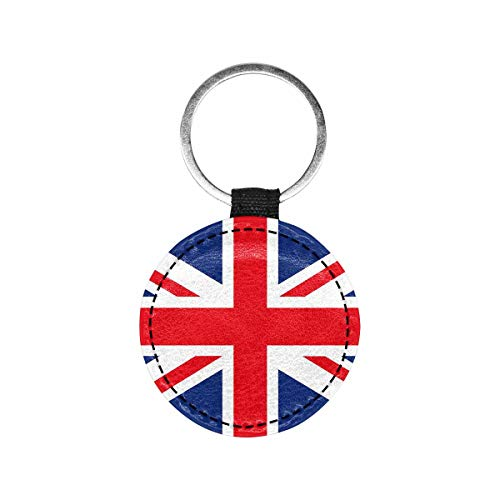MyPupSocks Personalized Pet Tag British Flag Union Jack Dog Tag and Cat Tag Custom Print Double Sided