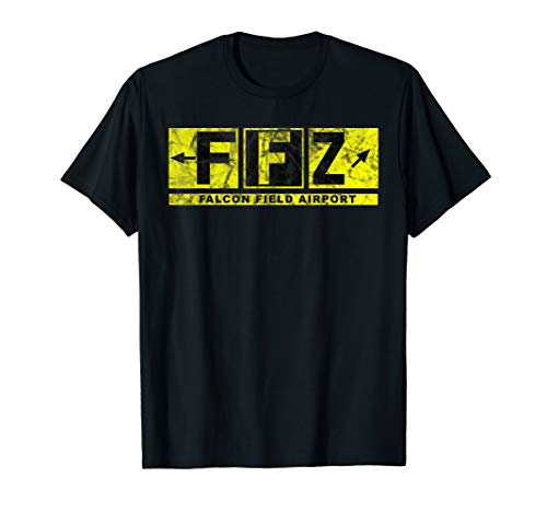 FFZ Falcon Field Airport Taxiway Sign Pilot Vintage T-Shirt