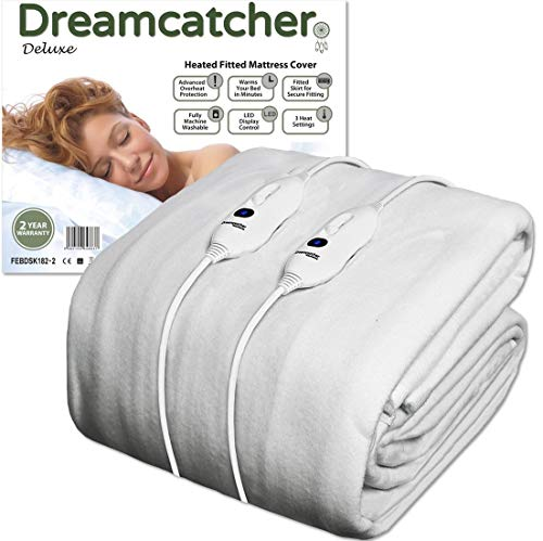 Check Pattern Plush Polyester Bed Throw Double Size Heated Over Blanket with 3 Heat Settings and Auto Shut Off Timer Navaris Electric Blanket