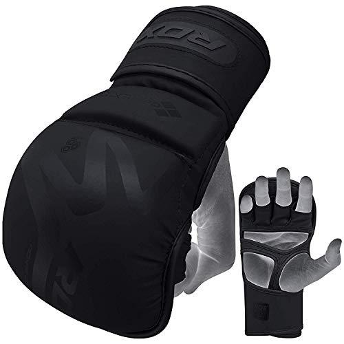 RDX MMA Handschuhe für Kampfsport, Convex Skin Leder Trainingshandschuhe Sparring Profi Grappling Gloves, Punchinghandschuh für Kickboxen, Boxsack, Muay Thai, Freefight, Sandsack (MEHRWEG)