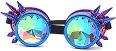 FIRSTLIKE Festivals Kaleidoscope Rainbow Glasses Prism Sunglasses Goggles