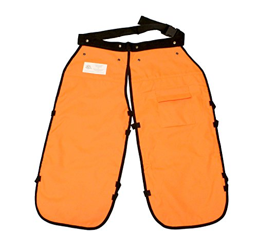 Redneck Convent 37in Safety Chainsaw Chaps – Logging Tools Chainsaw Safety Gear with Pocket, Chainsaw Apron Chaps Style, Orange