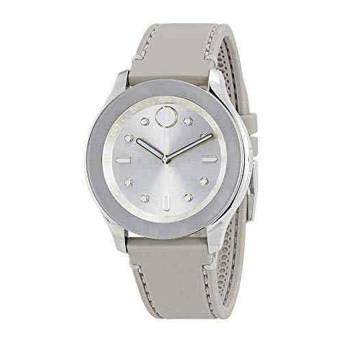 Movado Bold Silver Dial Grey Silicone Ladies Watch 3600412