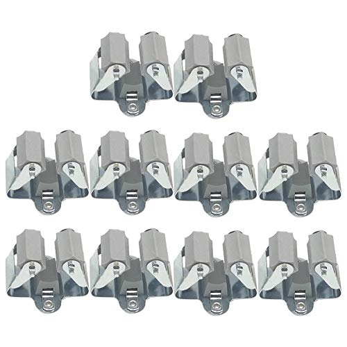 3-H Besenhalter Wandhalter zur Aufbewahrung der Gartengeräte/besenhalterung Wand,Gartengerätehalter,Gerätehalter,Wandhalterung Besen Halter für zur Mopp Besen Organisation(10pc)