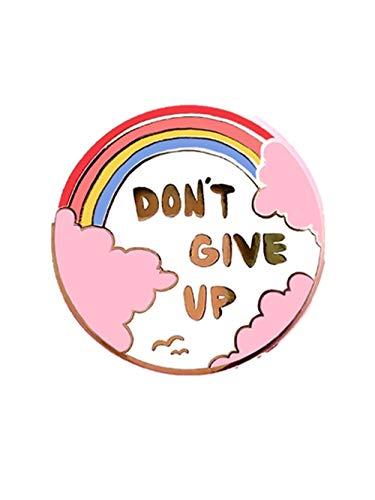 Harte Emaille Pin süße Cartoon Regenbogen Pins Schmuck Mode Pastell rosa Wolken Gold Medaille Brosche Geschenk