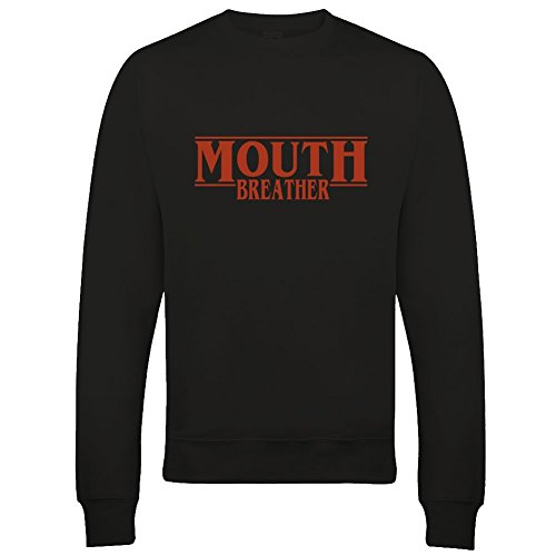 Mouth Breather, sudadera inspirada en la serie Sci Fi para hombre Negro Negro ( L