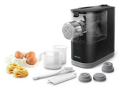 Philips HR2345/29 Viva Collection Pastamaker - Macchina con 4 trafile per preparare da zero pasta e spaghetti, 150 W, Nero
