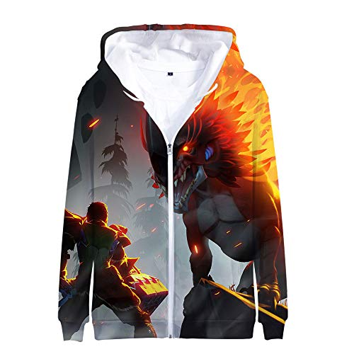 Chfjgkirer Dauntless Pullover Hooded Zipper Mantel Hipster 3D Digital Printing Oberbekleidung Langarm-Sweatshirt Unisex (Color : A01, Size : Height-170cm(Tag M))