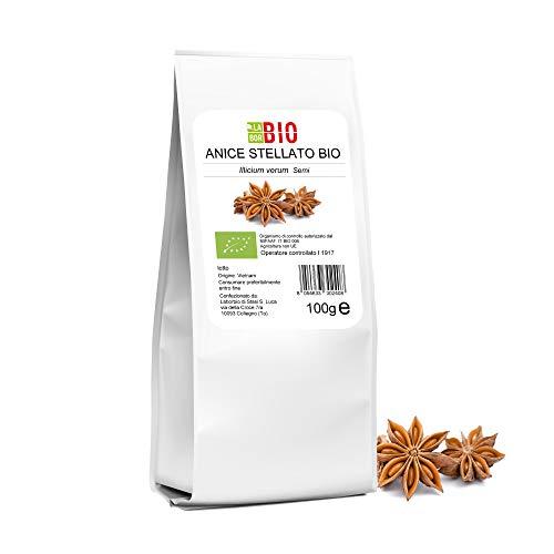 Anice stellato intero alimentare Bio 100 g - Uso in cucina Tisane Dolci Decorazioni - 100% Naturale LaborBio