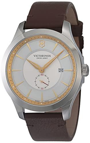 Victorinox Men's Alliance Stainless Steel Swiss-Quartz Watch with Leather Strap, Black, 21 (Model:...