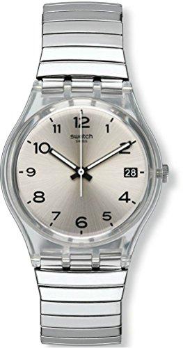 Swatch Orologio da Donna Digitale al Quarzo con Cinturino in Acciaio Inox – GM416A
