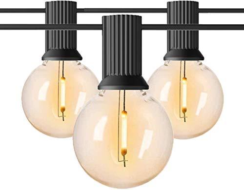 100Ft G40 Guirnaldas Luminosas de Exterior, Anting 50M Impermeable Cadena de Luces...