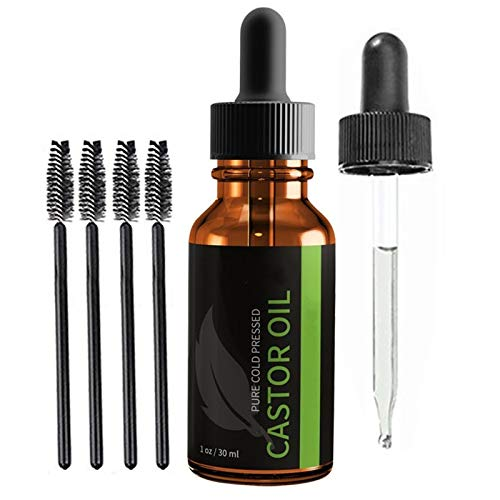 maimai Castor Oil for Hair Growth Eyelashes Eyebrows,Organic Cold Press,Cold Pressed Hexane Free Organic sterile Castor Oil,Castor Oil Pack Pure Organic Skin Care,3PCS