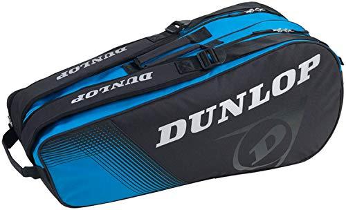 ダンロップ(DUNLOP) テニス CLUB LINE ラケットバッグ ラケット6本収納可 ブラック×ブルー(047) DTC2030 one size