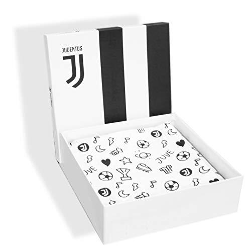 Completo Lenzuola Letto Baby Culla Lettino con sbarre 100% Cotone Ufficiale Juventus FC Nuovo Logo JJ