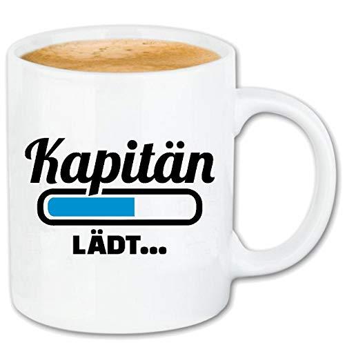 Reifen-Markt Taza de café con barca de carga de capitán Loading LÄDT – Container Schiff – Barco de vela – Barco de pasajeros – Cerámica 330 ml 400986