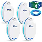 Michael Doss Ultrasonic Pest Repeller, 4 Pack Ultrasonic Pest Repeller, 2021 Upgraded Electronic Plug in Bug Repellent & Mice Repellent, Pest Repeller for Home, Pest Control for Mosquitoes, Roaches