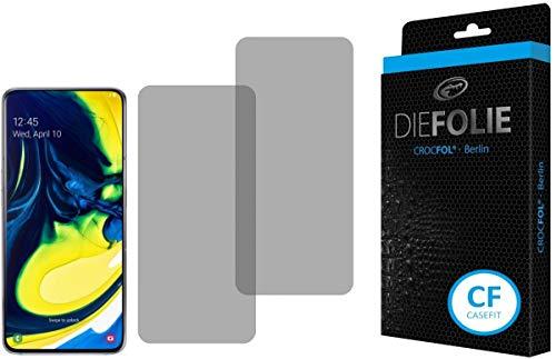 Crocfol Schutzfolie vom Testsieger [2 St.] kompatibel mit Samsung Galaxy A80 - selbstheilende Premium 5D Langzeit-Panzerfolie - für vorne, hüllenfre&lich