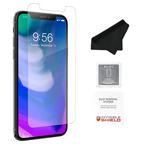 ZAGG InvisibleShield Glass+ Screen Protector – HD Tempered Glass for iPhone XS/X – Impact & Scratch Protection - Easy to Apply Tools Included - 2 PACK