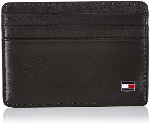 Tommy Hilfiger Eton Cc Holder Porta carte di credito, 75 cm, Nero