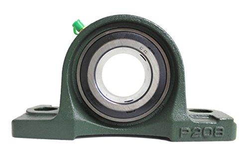 2x UCP 208 / UCP208 Stehlager 40mm Welle (2-Loch Lagerbock) mit Metallschutzlack für Innendurchmesser 40mm Bohrung/Gehäuselager/Stehlagereinheit P208