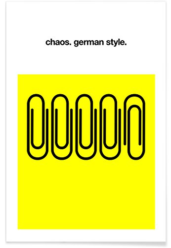 "Juniqe® Motivation Lustig Poster 60x90cm - Design ""German Chaos"" entworfen von Kubistika"