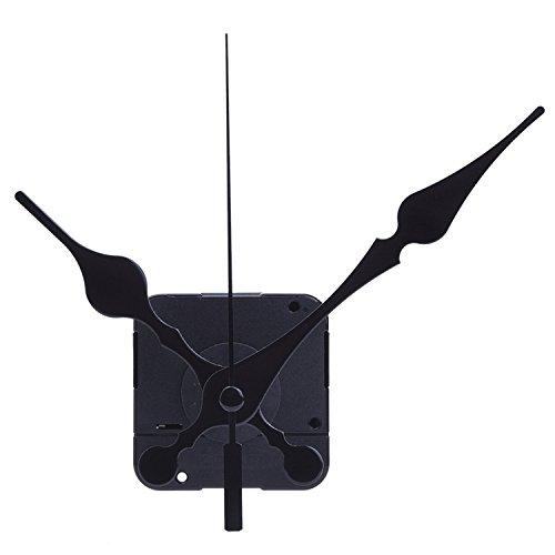 Movimiento de Reloj de Cuarzo Agujas Negras, 3/ 10 Pulgadas Máximo de Espesor de Esfera, 4/ 5 Pulgadas de Longitud de Eje Total