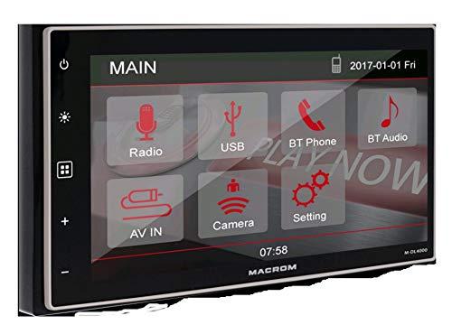 Macrom M-DL4000 - Fuente multimedia 2DIN con Bluetooth