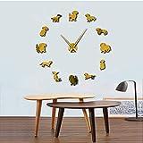 Reloj De Pared De Medusas Oceánicas Impresas Coloridas Decoración De Acuario De Guardería Gelatinas Marinas Reloj De Pared Decorativo Animales Marinos Arte De Pared 30Cm