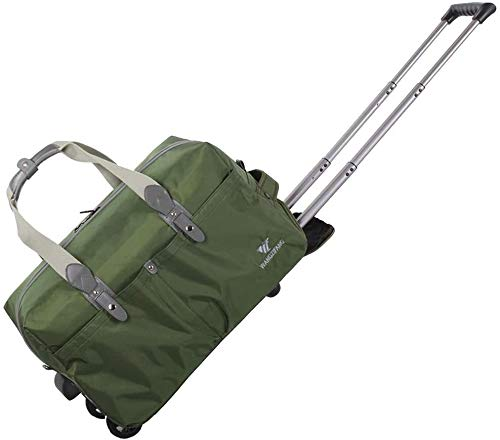 GQY Trolley - ultra-light cabin luggage approved suitcase travel bag (Color : Armée Verte, Size : 20)