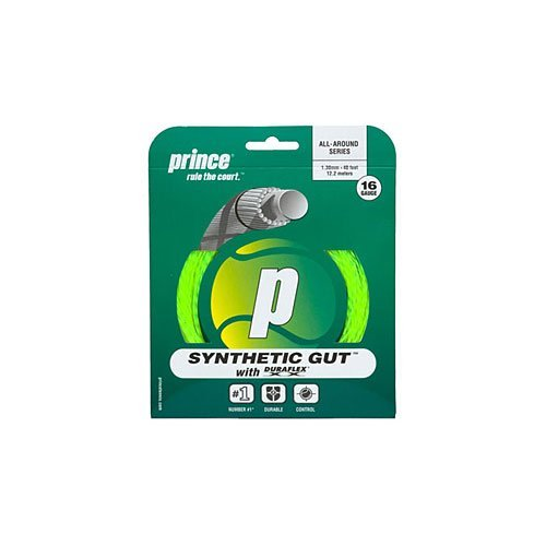 Prince Synthetic Gut with Duraflex 16g Yellow Tennis String