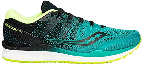 Saucony Men's Freedom ISO 2 Running Shoe, Teal/Black, 10.5 M US