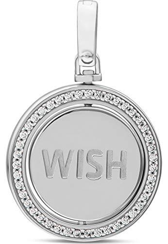 JETTE Silver Damen-Charm Lucky Charm 925er Silber Zirkonia One Size Silber 32010640