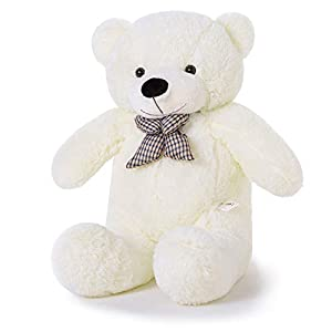YunNasi Oso de Peluche Suave Almohada Gigante Teddy Juguetes de Peluche para Animales 100cm Blanco