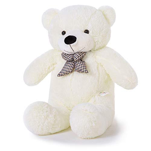YunNasi Riesen Teddybär XL Teddy Kuscheltier Riesiger Plüschbär Stofftier mit süßer Schleife 100cm