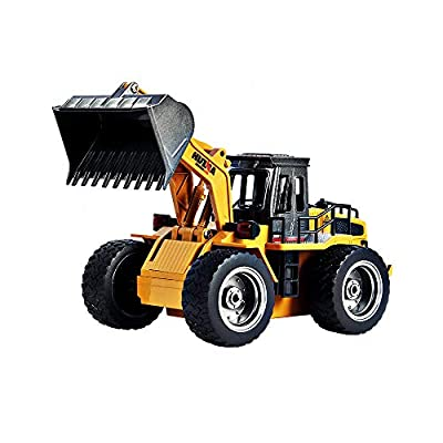 Huina 2.4Ghz Radio Control Bulldozer Construction Vehicle Alloy 6 Channel 4 Wheel Loader Remote Control Simulation Truck from Huina
