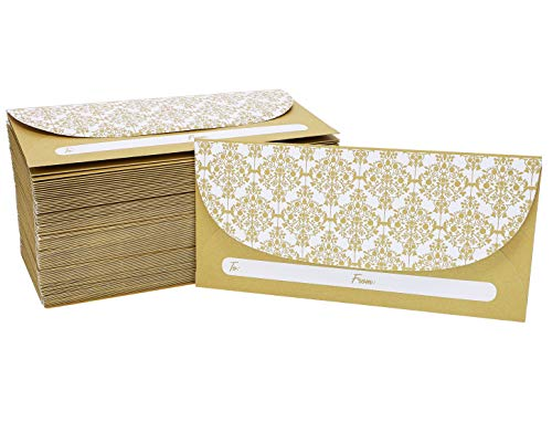 Currency Envelopes for Graduation, Wedding, and Birthdays (6.5 x 3 in, 100-Pack)