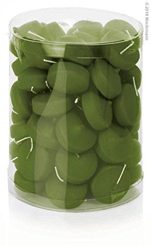Bougies flottantes Lot de 50 48 mm (Olive)