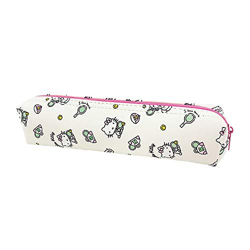 Sanrio Hello Kitty Pencil Case Multi-Purpose Pouch 1pc: Hello Kitty's Leisure Life (White)
