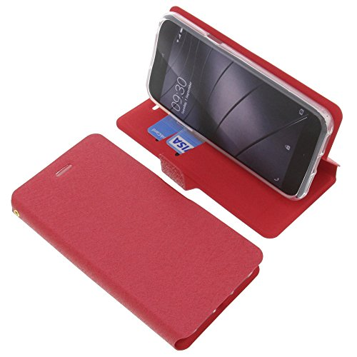 foto-kontor Tasche für Gigaset Me Pure Book Style rot Schutz Hülle Buch