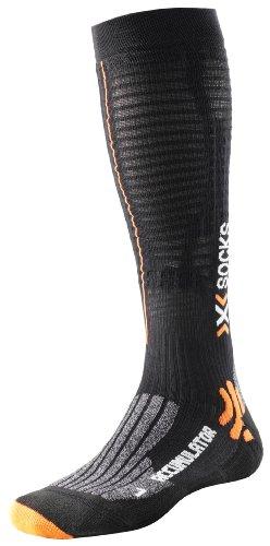 X-Socks Accumulator Run - Calcetines de compresión para Deporte Negro Negro Talla:39-41