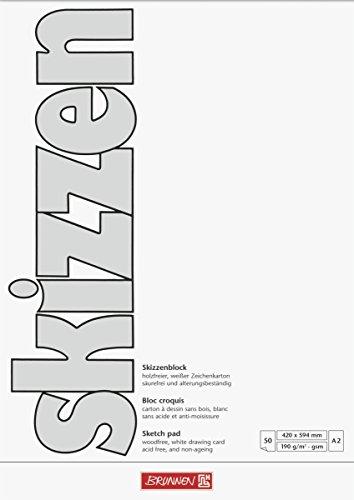 Brunnen 1047255 Zeichen-/Skizzenblock (A2, 190 g/m², 50 Blatt)