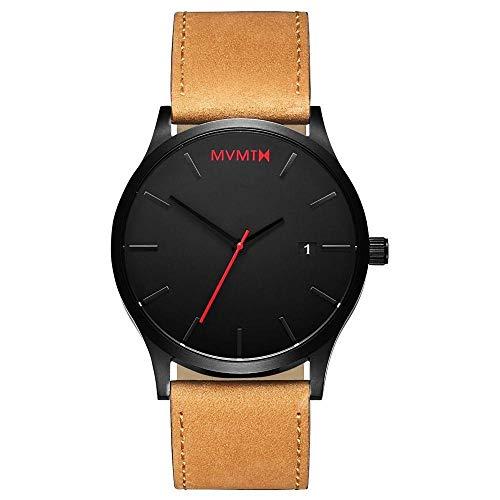 MVMT Herren Analog Quarz Armbanduhr mit Lederarmband D-L213.5L.351