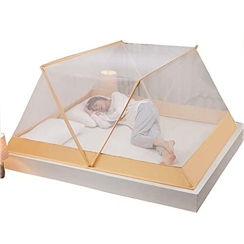 AOTEMAN Mosquitero plegable sin fondo mosquitero portátil para estudiantes dormitorio mosquitero plegable cama mosquitero