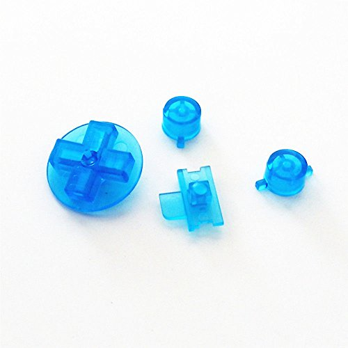 Transparent Blue Buttons For Gameboy Classic Original DMG-01 Keypads A B Buttons Replacement Parts